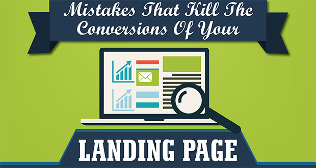 Mistakes That Kill The Conversions Of Your Landing Page [Infographic]